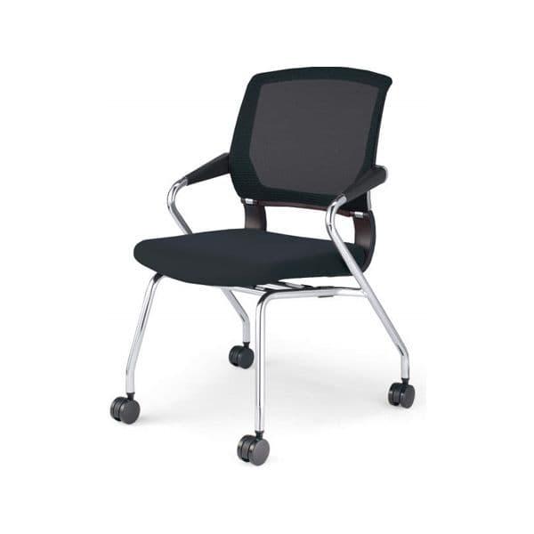 コクヨ(KOKUYO) ミーティングチェア Saterite(サテリテ) CK-M791C-W [会議イス 学校 体育館 公民館 チェア いす 椅子 集会場 業務用 会議用椅子 会議椅子 会議室 オフィス家具 オフィス用 オフィス用品 スタッキングチェア]