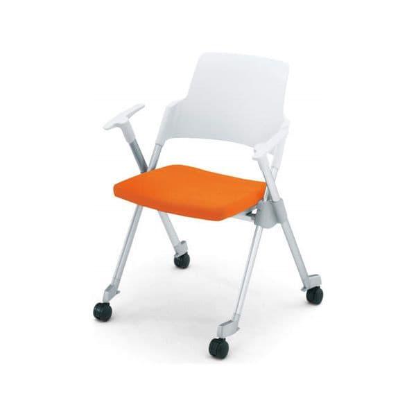 コクヨ(KOKUYO) ミーティングチェア Amphi(アンフィ) CK-671C [会議イス 学校 体育館 公民館 チェア いす 椅子 集会場 業務用 会議用椅子 会議椅子 会議室 オフィス家具 折りたたみチェア ミーティング用チェア ミーティングチェア スタッキングチェア]