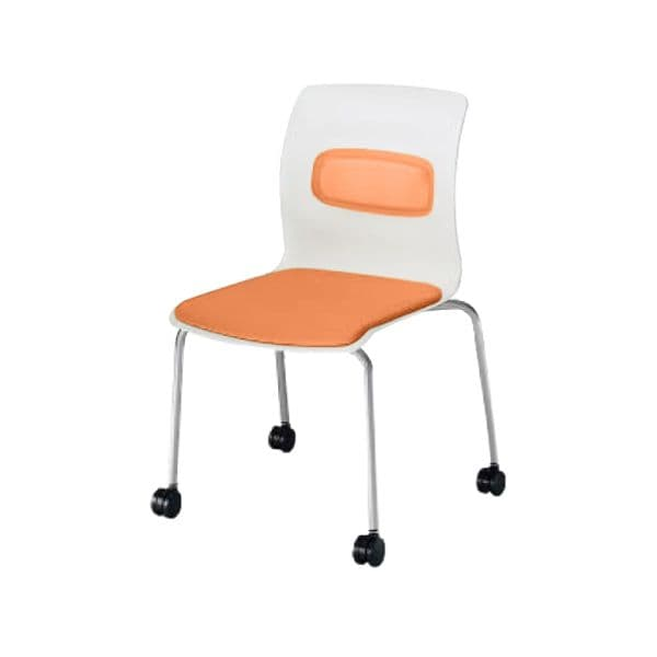 コクヨ(KOKUYO) ミーティングチェア pictis(ピクティス) CK-770CJY-W [会議イス 学校 体育館 公民館 チェア いす 椅子 集会場 業務用 会議用椅子 会議椅子 会議室 オフィス家具 オフィス用 オフィス用品 スタッキングチェア]