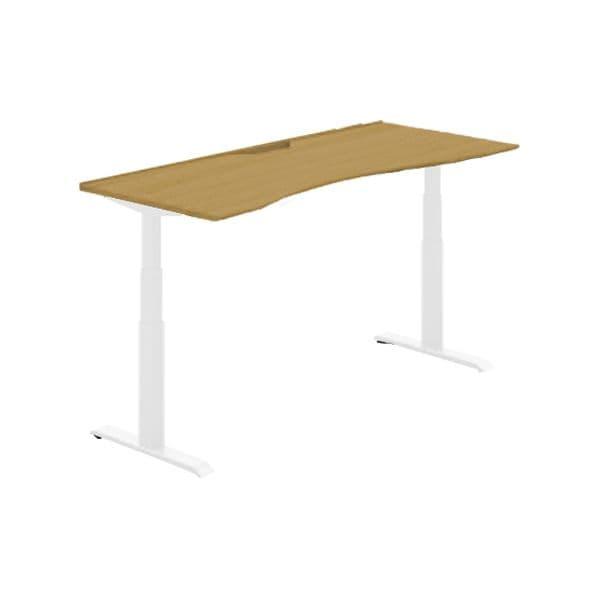 コクヨ(KOKUYO) オフィスデスク 平机 シークエンス W1500×D800×H630~1290mm SD-SEWS158SAWN【別途 組立費必須】 [ワーキングテーブル ワークテーブル テーブル ミーティングテーブル 長方形 オフィス家具 会議テーブル 会議用テーブル 会議机 オフィステーブル]