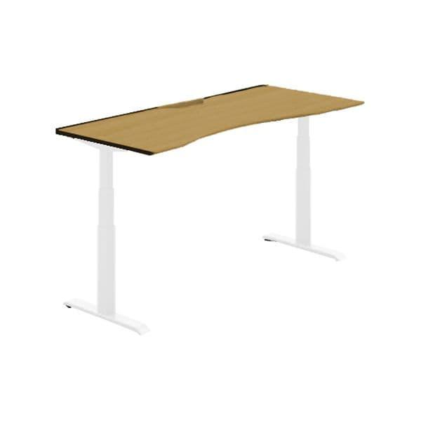 コクヨ(KOKUYO) オフィスデスク 平机 シークエンス W1500×D800×H630~1290mm SD-SEWA158SAWN【別途 組立費必須】 [ワーキングテーブル ワークテーブル テーブル ミーティングテーブル 長方形 オフィス家具 会議テーブル 会議用テーブル 会議机 オフィステーブル]