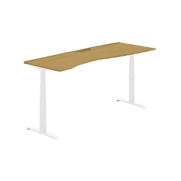 コクヨ(KOKUYO) オフィスデスク 平机 シークエンス W1800×D800×H630~1290mm SD-SEWS188SAWN【別途 組立費必須】 [ワーキングテーブル ワークテーブル テーブル ミーティングテーブル 長方形 オフィス家具 会議テーブル 会議用テーブル 会議机 オフィステーブル]