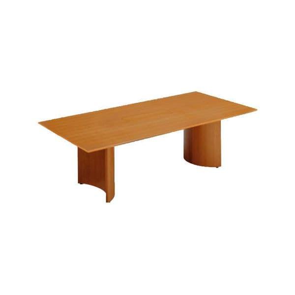 コクヨ(KOKUYO) 長方形テーブル Rollan(ロラン) W2400×D1200×H720mm WT-W850【別途 組立費必須】 [ワーキングテーブル ワークテーブル テーブル ミーティングテーブル 長方形 オフィス家具 会議テーブル 会議用テーブル 会議机]