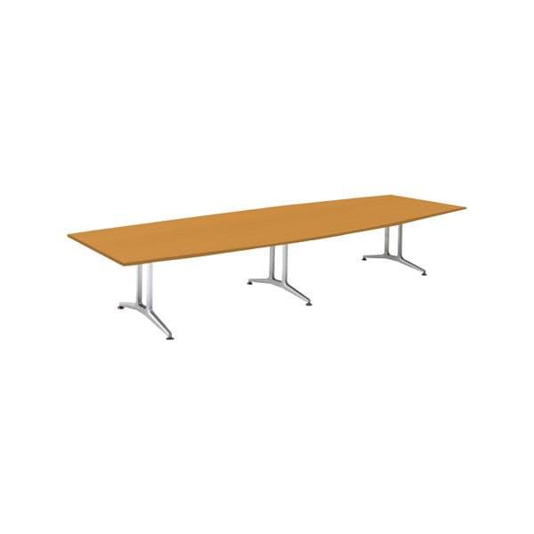 コクヨ(KOKUYO) ミーティングテーブル 舟形 WT-200シリーズ W4000×D1500×H720mm WT-W212【別途 組立費必須】 [会議用テーブル 会議テーブル 会議用デスク 会議デスク 休憩室 食堂 オフィス用 会議室 ワーキングテーブル 作業テーブル テーブル]