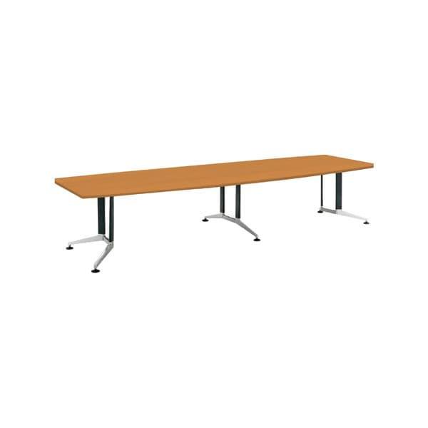 コクヨ(KOKUYO) ミーティングテーブル 舟形 WT-300シリーズ W3600×D1200×H720mm WT-PW314【別途 組立費必須】 [会議用テーブル 会議テーブル 会議用デスク 会議デスク 休憩室 食堂 オフィス用 会議室 ワーキングテーブル 作業テーブル テーブル]