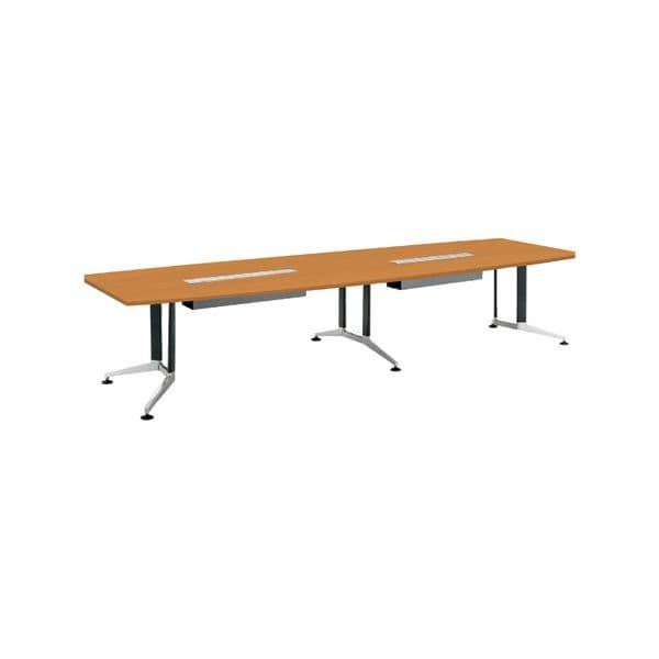 コクヨ(KOKUYO) ミーティングテーブル 舟形 WT-300シリーズ W3600×D1200×H720mm WT-PWB314【別途 組立費必須】 [会議用テーブル 会議テーブル 会議用デスク 会議デスク 休憩室 食堂 オフィス用 会議室 ワーキングテーブル 作業テーブル テーブル]