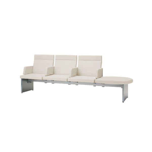 コクヨ(KOKUYO) ベンチ ロビーチェア PADRE(パドレ) W2555×D720×H895mm CN-1204ALS [いす イス 椅子 ロビー 受付 ロビーソファ チェア オフィス家具 オフィス用 オフィス用品]