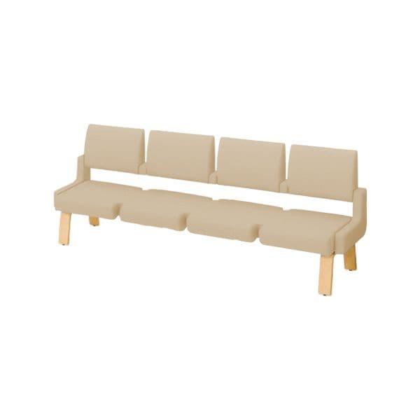 コクヨ(KOKUYO) ベンチ ロビーチェア ALRA(アルラ) W2395×D600×H900mm CN-W454HML [いす イス 椅子 ロビー 受付 ロビーソファ チェア オフィス家具 オフィス用 オフィス用品]