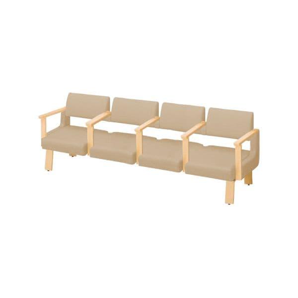 コクヨ(KOKUYO) ベンチ ロビーチェア ALRA(アルラ) W2395×D600×H770mm CN-W454LAALL [いす イス 椅子 ロビー 受付 ロビーソファ チェア オフィス家具 オフィス用 オフィス用品]