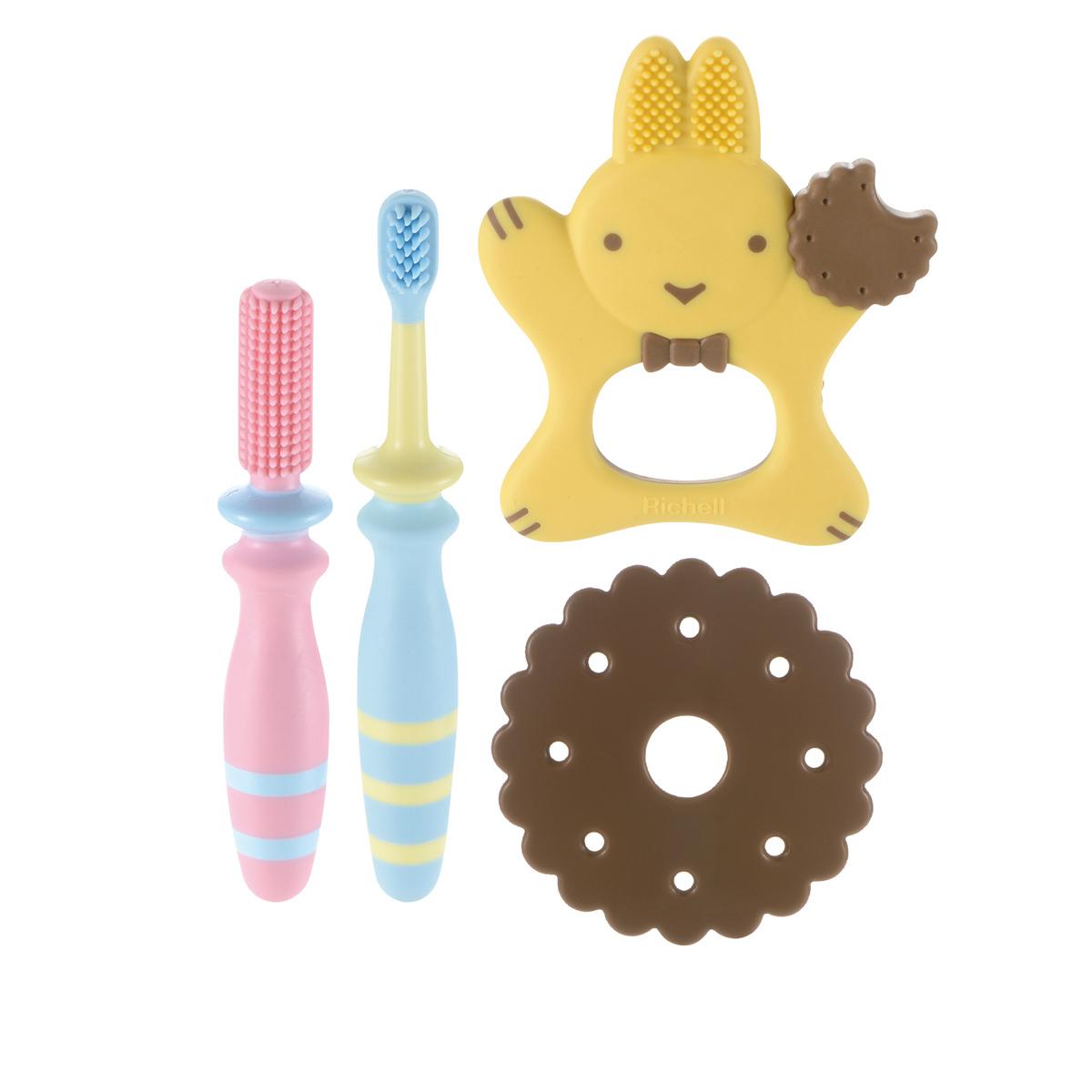 乳歯ブラシの3ステップセット 即納最大半額 本物 リッチェル 歯みがき習慣スタートセット トライ