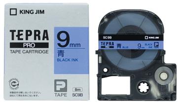 定番から日本未入荷 キングジム テプラPROテープカートリッジカラー 青ラベルシリーズ メール便なら送料290円 青ラベル9mm幅 送料無料お手入れ要らず カラーカートリッジ テプラPROテープ SC9B