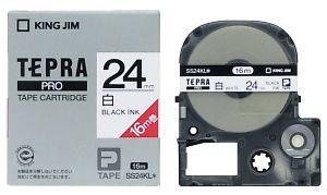 キングジム テプラPROテープカートリッジカラー 与え 白ラベルシリーズ テプラPROテープカートリッジ SS24KL 年中無休 白ラベル24mm幅 ロング