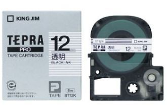 送料無料 一部地域を除く キングジム テプラPROテープカートリッジカラー 透明ラベルシリーズ 店内限界値引き中&セルフラッピング無料 KING JIM TEPRA テプラ 透明 PRO 12mm 透明ラベル 黒文字 テープカートリッジ ST12K