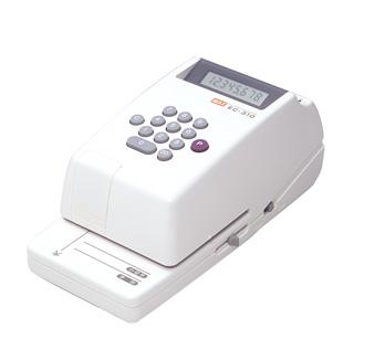 正規品 コンパクトで安価なベストセラー機 印字桁数 最大8桁 金額 安心と信頼 マックス MAX EC-310 8桁 EC90001 印字 電子チェックライタ コンパクトタイプ