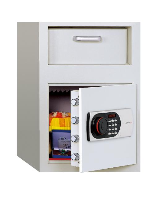 【送料無料】【受注生産品】ディプロマット・ジャパン 投入式金庫 DS20 EDL88デジタルテンキーロック搭載 ビルトイン・アラーム容量27L ※耐火性能はありません