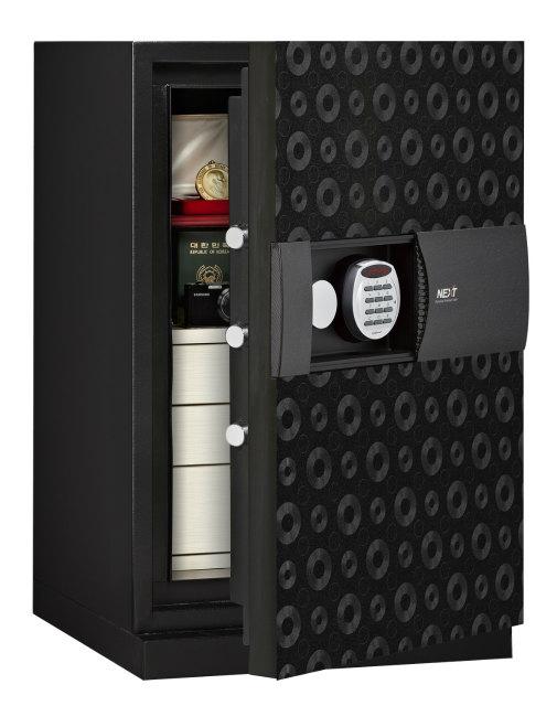 ディプロマット・ジャパン 次世代型耐火金庫 NEXT デジタルテンキー式耐火・防盗金庫 DPS7500-BK ブラック A4対応 1時間耐火 R3デジタルロック搭載 UL防盗基準クリアモデル ビルトイン・アラーム容量76.6L