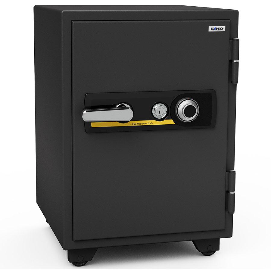 【開梱設置無料】【送料無料】エーコー 家庭用小型耐火金庫 STANDARD BSD-X (ダイヤル&シリンダー式) A4ファイル対応 1時間耐火 51L  棚板1枚 鍵付引出し1個「EIKO」 103kg