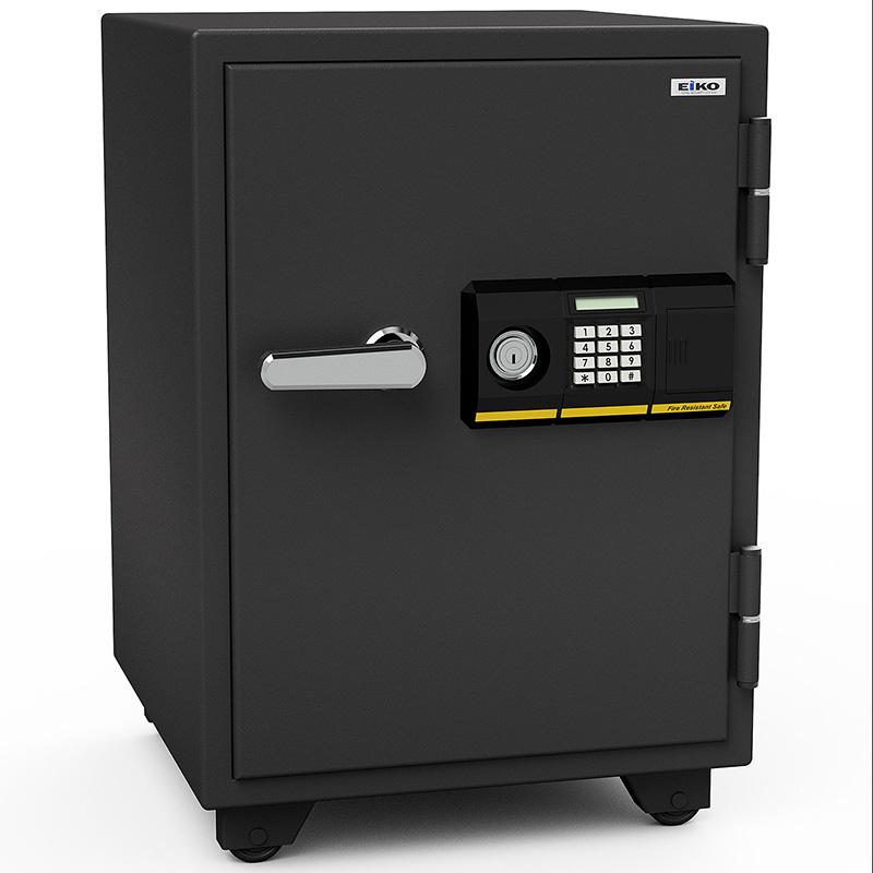 【開梱設置無料】【送料無料】エーコー 家庭用小型耐火金庫 STANDARD BSD-PKX (テンキー&シリンダー式) A4ファイル対応 1時間耐火 51L  棚板1枚 鍵付引出し1個「EIKO」 103kg