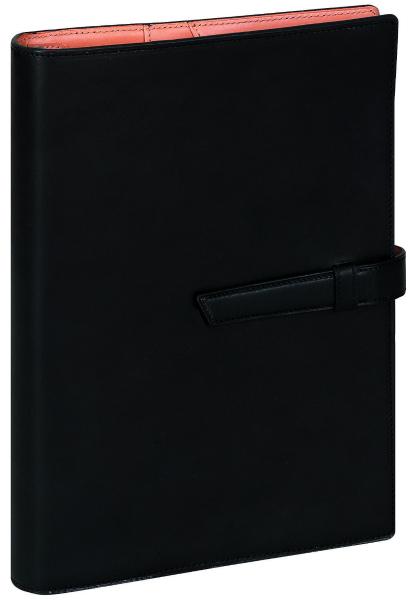 ラッピング無料【名入れ可(有償)】【送料無料】 レイメイ藤井DavinciGRANDE(ダ・ヴィンチグランデ)システム手帳 ジャパンアースレザー DSA1702B ブラック A5サイズ リング25mm