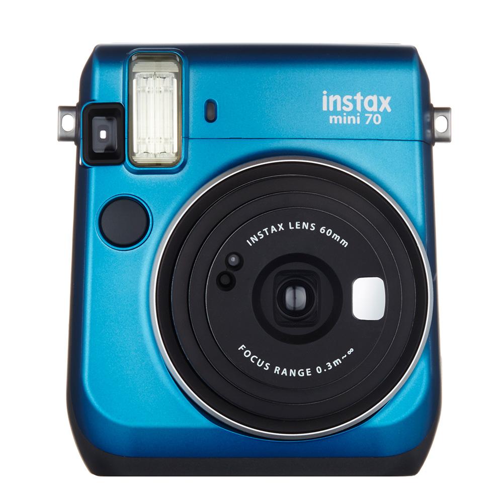 """【ラッピング無料】【送料無料】富士フイルム """"チェキ""""instax mini70N ブルー チエキカメラ INS MINI 70N BLUE"""