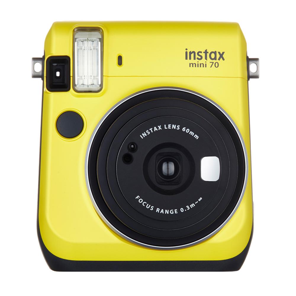 """【ラッピング無料】【送料無料】富士フイルム """"チェキ""""instax mini70N イエロー チエキカメラ INS MINI 70N YELLOW"""