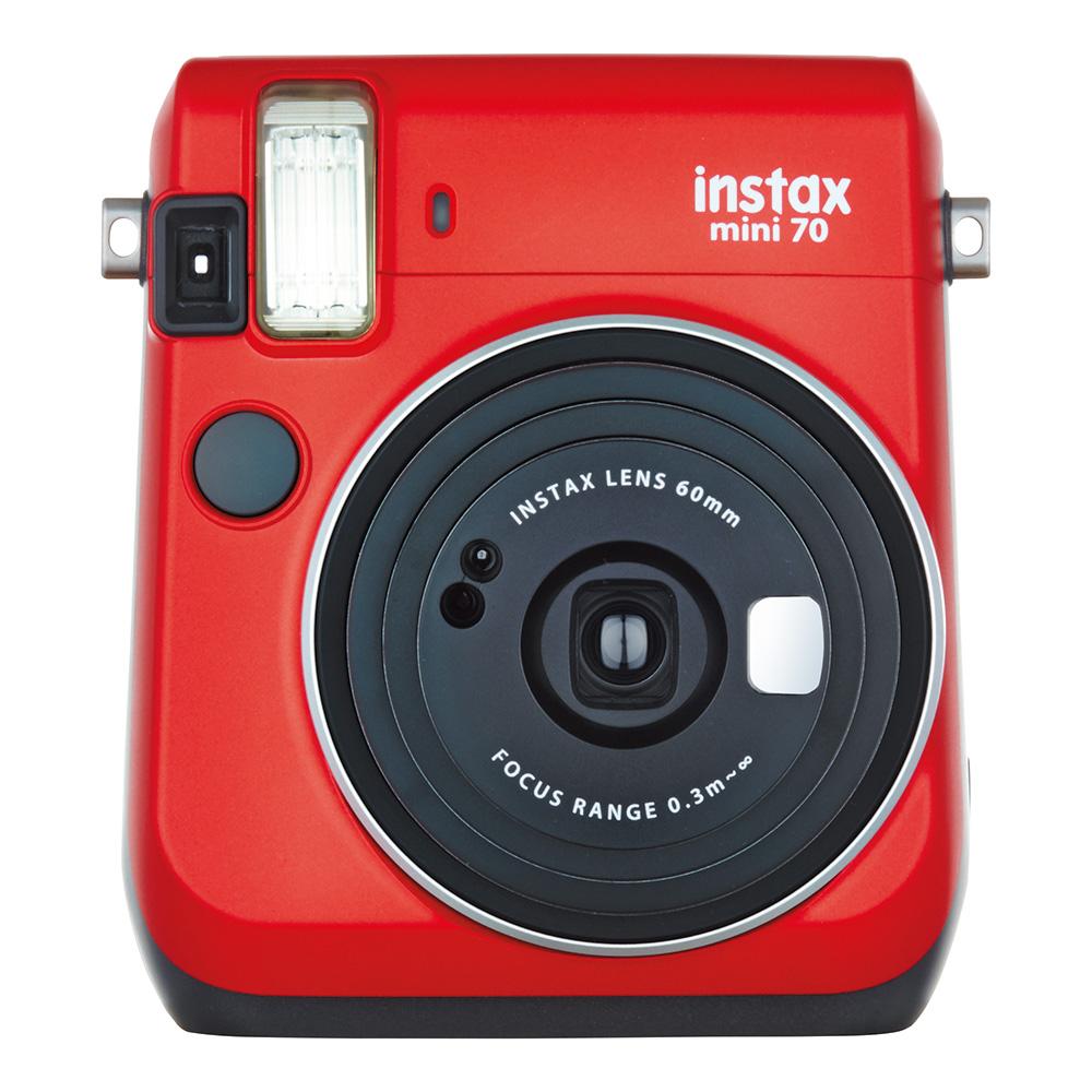 """【ラッピング無料】【送料無料】富士フイルム """"チェキ""""instax mini70N レッド チエキカメラ INS MINI 70N RED"""