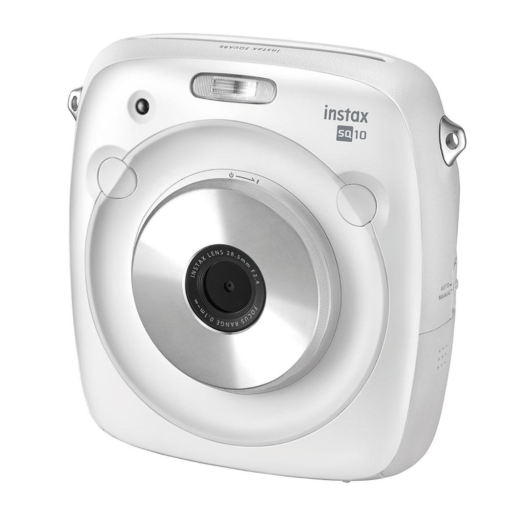 【送料無料】【ラッピング無料】 FUJIFILM<富士フイルム>ハイブリッドインスタントカメラ『insatx SQUARE SQ10』ホワイト