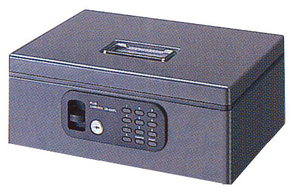 プラス 手提金庫FL型 (電子ロック)Mサイズ 送料無料キャンペーン中CB-020FL ダークグレー