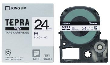 キングジム 再再販 テプラPROテープカートリッジ 毎週更新 SS24K 白ラベル