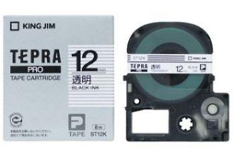 メール便なら送料290円 キングジム テプラPROテープカートリッジ ST12K 再入荷/予約販売! 高価値 透明ラベル