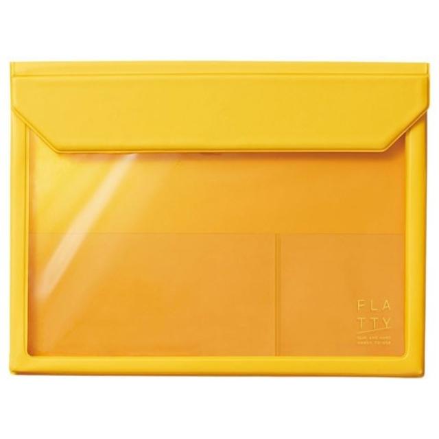 カバンの中の小物をすっきりとまとめられる フラッティ メール便1個までなら送料290円 キングジム KING 全品最安値に挑戦 FLATTY 海外 5364キイ 黄 A5サイズ JIM