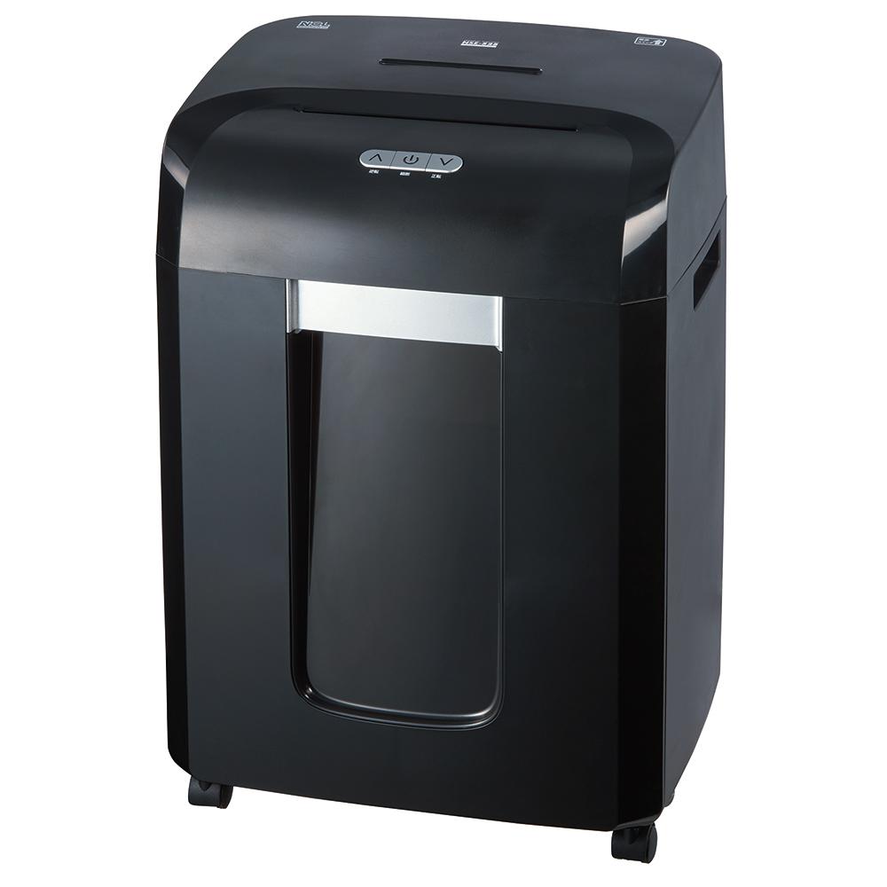 【送料無料】ナカバヤシ パーソナルシュレッダー NSE-526BK A4サイズ15枚 メディア対応 マイクロカット