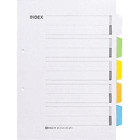 キングジム<KING JIM> カラーインデックス A4S (2穴) 907G