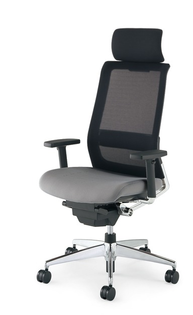 【送料無料】コクヨ<KOKUYO> Advanced Chair(次世代OAチェア) AIRFORT<エアフォート> 「エアランバーサポート搭載」 ヘッドレスト付きタイプ 上下肘 CR-GA2343□-W・V