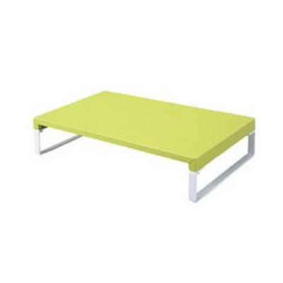 置くだけでデスクすっきり!スペースUP! LIHIT LAB.<リヒト ラブ> TEFFAシリーズ DESKTOP STAND(机上台) 幅390mm A-7330-6(黄緑)(A7330-6)