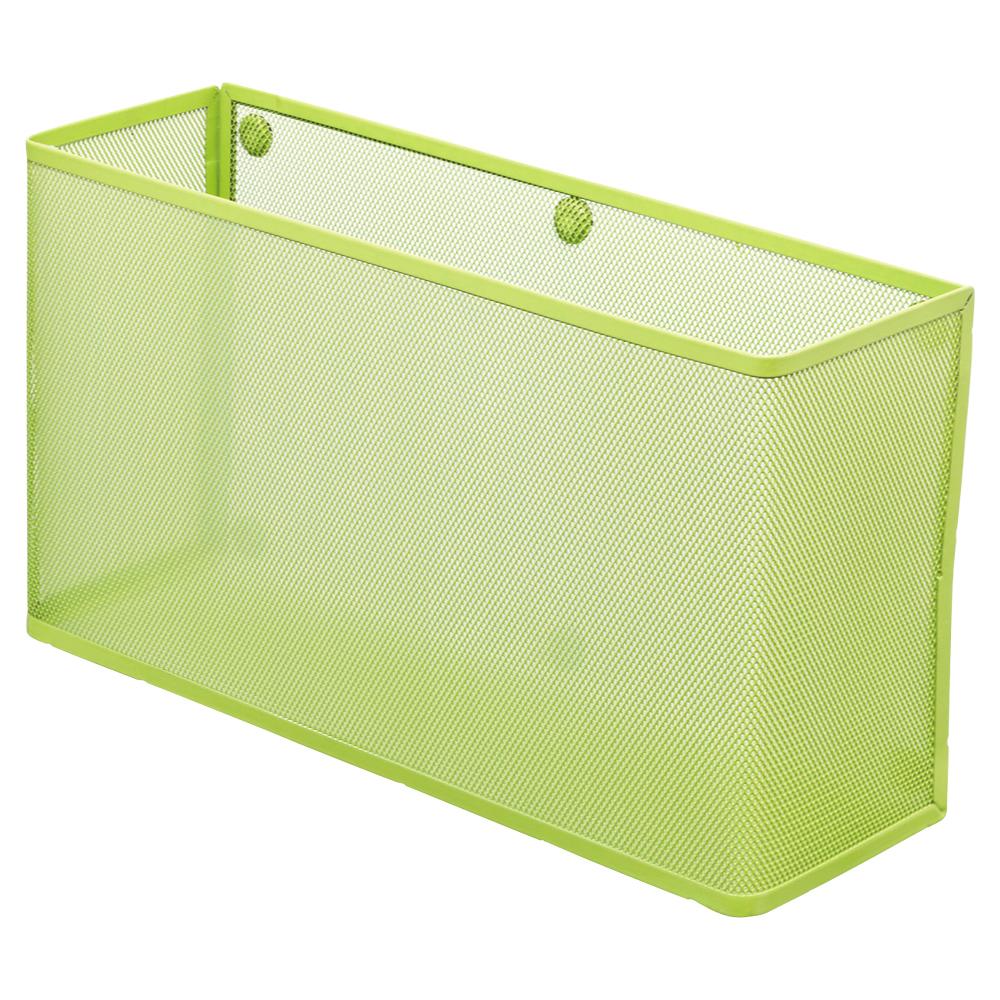 デスクの側面も収納スペースに 強力なネオジム磁石使用 ランキングTOP10 LIHIT LAB. リヒトラブ 人気 A-7395-6 A4横ワイド 黄緑 マグネットポケット