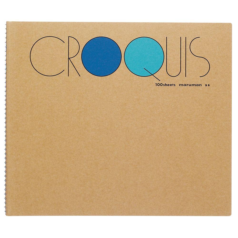 独特なデザインで人気の maruman製品 【メール便なら送料290円】マルマン クロッキーブック Sサイズ 100枚 ブルー SS-02