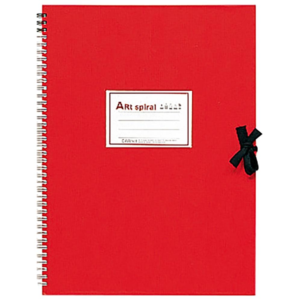 独特なデザインで人気の 本物 maruman製品 マルマン アートスパイラルスケッチブック F4 S314-01 24枚 厚口 レッド 返品送料無料