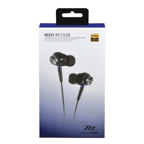 【送料無料!】<マクセル> <maxell>ハイレゾ対応ヘッドホン MXH-RF550B