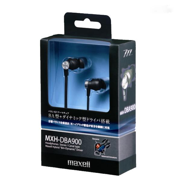 【送料無料!】<マクセル> <maxell>カナル型ヘッドホン MXH-DBA900BK