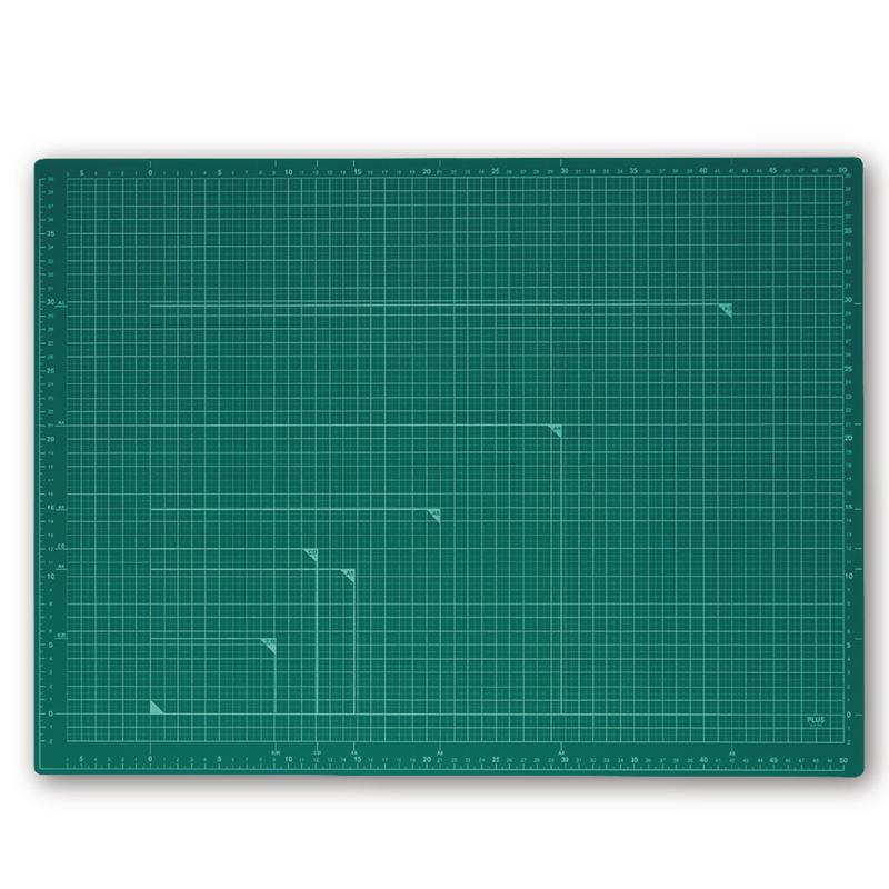 プラス PLUS カッティングマット 爆買い新作 A2サイズ 48-586 CS-A2 人気上昇中 グリーン