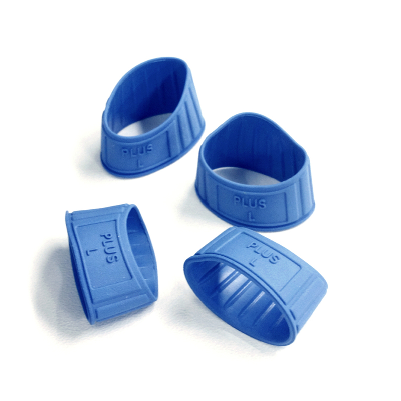 プラス(PLUS)指サック メクリッコ ラバータイプ 抗菌 L 20個入 徳用 ブルー KM-403 44-773
