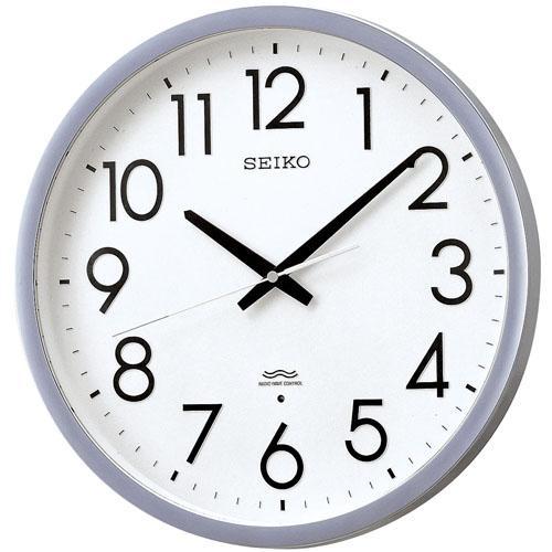【送料無料】セイコー 電波掛時計 KS265S オフィスタイプ スタンダード 銀色 半光沢仕上げ