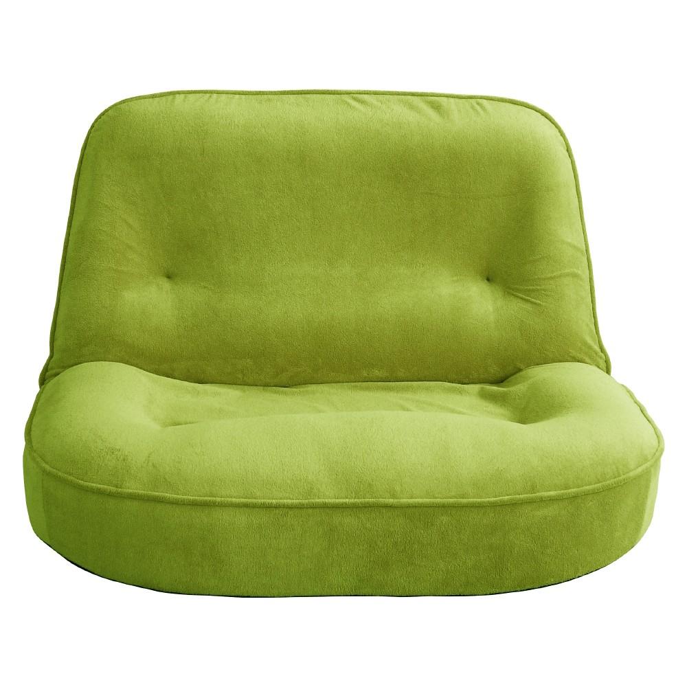 【メーカー直送・送料込】関家具 2人用 座椅子 ぽむ グリーン 238772