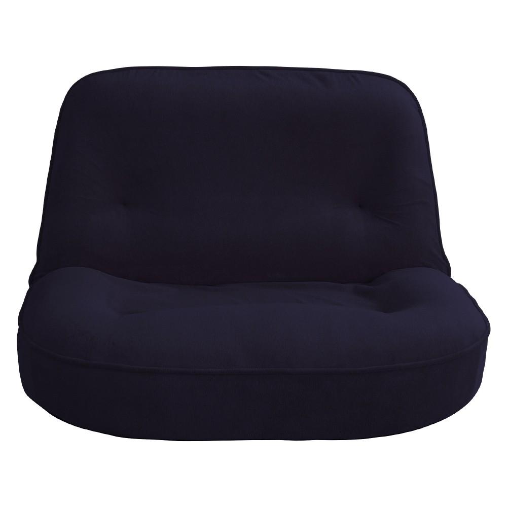 【メーカー直送・送料込】関家具 2人用 座椅子 ぽむ ネイビー 238774