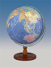 昭和カートン(三貴工業) SHOWAGLOBES 行政図タイプ地球儀 32cm 32-GRW 日本製 スタンダードモデル 上下回転可 プレゼントに最適な化粧箱入り 【送料無料】