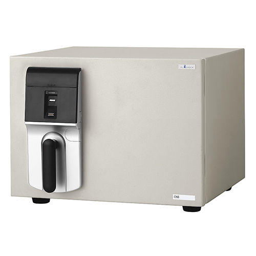 MEISTER 指紋照合式 OSS-F 幅484 奥行489 高さ372mm ホワイト エーコー 金庫 耐火金庫 指紋照合式 A4 シンプル 内臓シリンダー EK-OSS-F