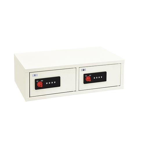LKシリーズ ダイヤルロック錠 LK-502 幅556 奥行342 高さ170mm ホワイト エーコー 金庫 シンプル EK-LK-502