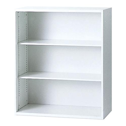 【送料無料】HK-HBオープン書庫(下置用ベース付) (H1050) キャビネット ホワイト 書棚 本棚 オフィス収納 選挙 事務所 2123211