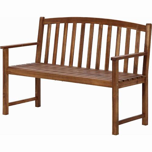 木製ベンチ 幅1284 奥行586 高さ900mm ブラウン 不二貿易 イス チェア 椅子 ガーデン アンティーク 北欧 おしゃれ 木 ウッド 木製 ベンチ FB-82064
